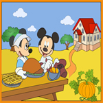Mickeys Thanksgiving Coloring Page